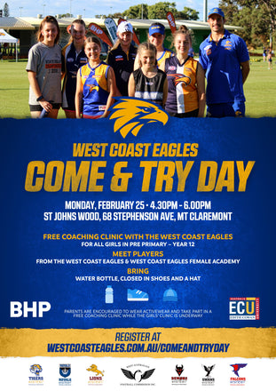 West Coast Eagles Come & Try Day.