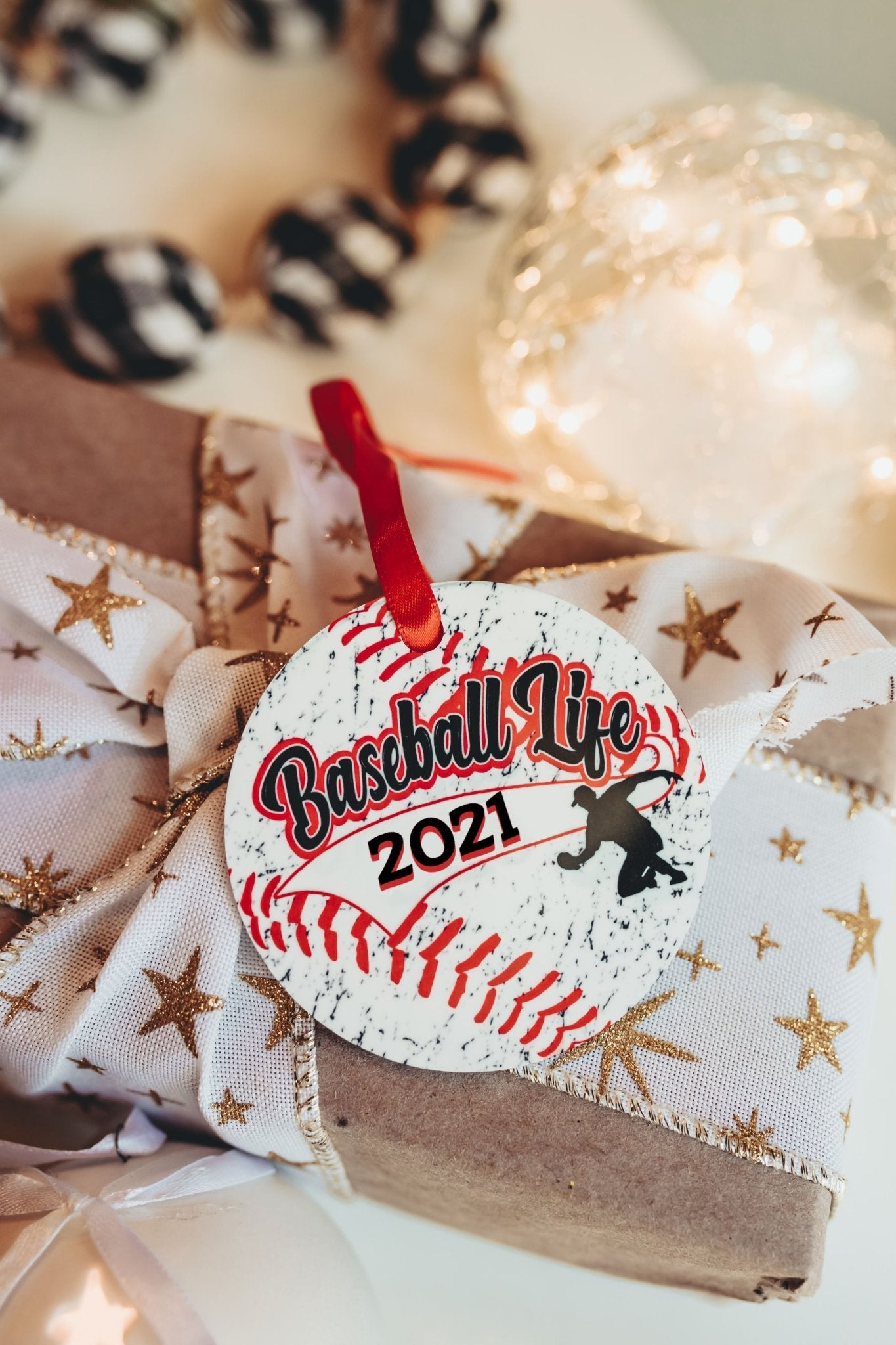 Baseball Christmas Ornament for 2021 - Daisy Lane Company