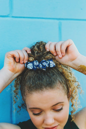 Blue Volleyball Hair Scrunchies Team Gifts for Girls - Daisy Lane Company