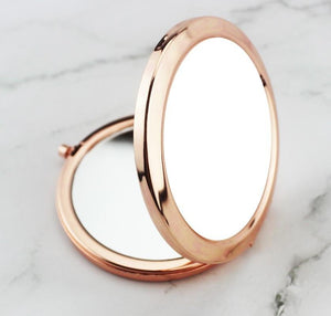 Compact Mirror for Sublimation Rose Gold Supplies - Daisy Lane Company