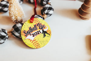 Softball Christmas Ornament for 2021 - Daisy Lane Company
