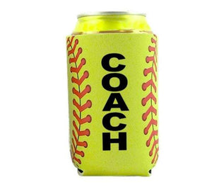 Softball Coach Gift for Men Women Neoprene Bottle Holder - Daisy Lane Company