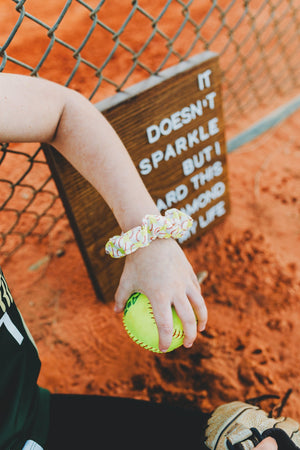 Softball Hair Scrunchies Team Gifts for Girls - Daisy Lane Company