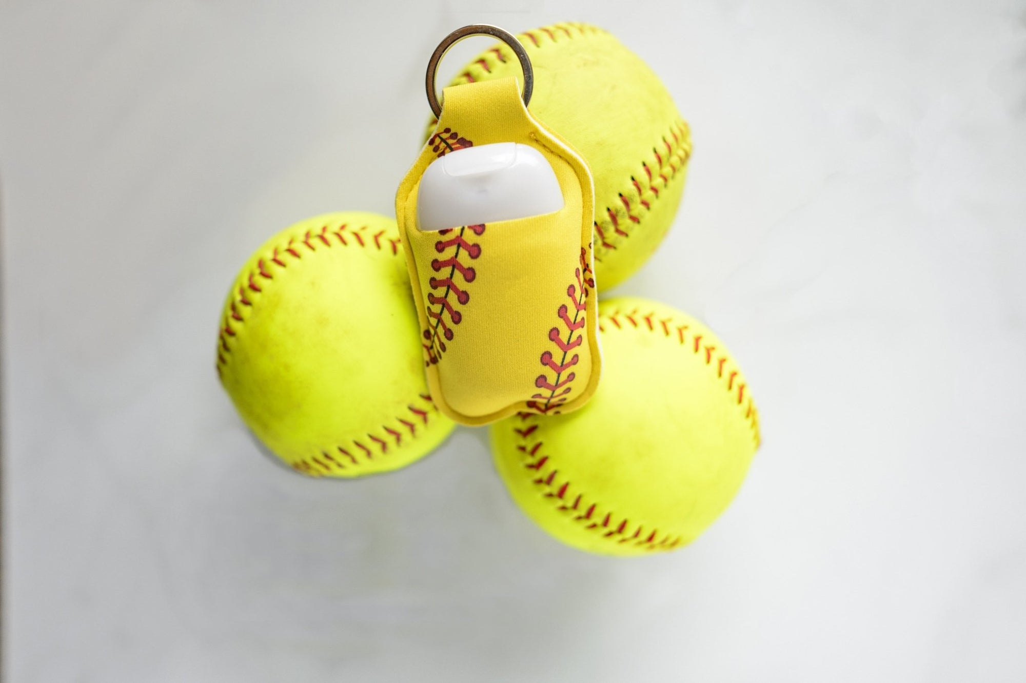 Softball Hand Sanitizer Holder for Backpack Kids Travel Size Keychain - Daisy Lane Company