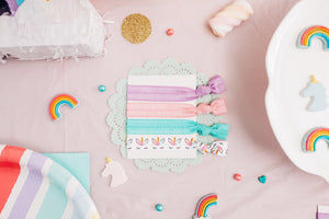 Unicorn Hair Tie Set Birthday Party Favors for Girls - Daisy Lane Company