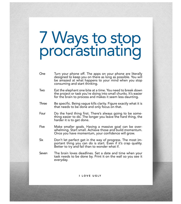 7 Ways To Stop Procrastination