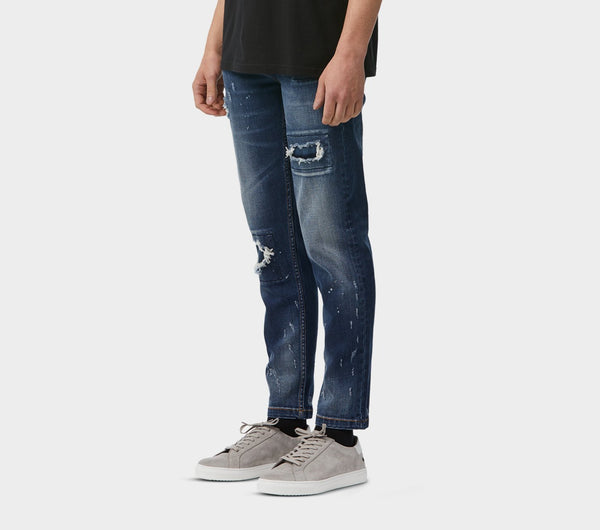 Denim Smart Pants - Destroyed Blue