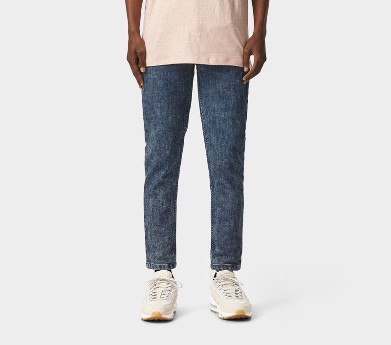 Denim Smart Pants - Bleach Stain Blue