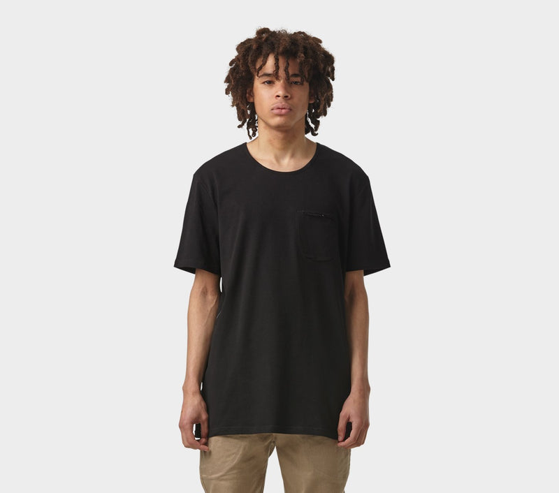 Pocket Scoop Tee - Black