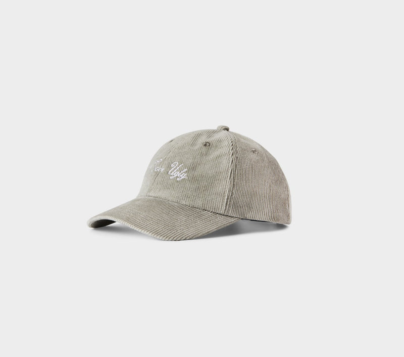 Corduroy Dad Cap - Stone Grey