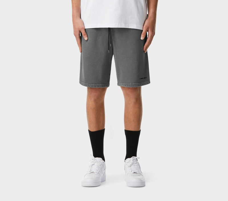 Trackie Short - Washed Black