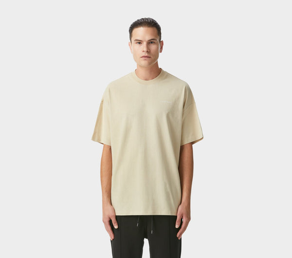 Box Fit Tee - Tan