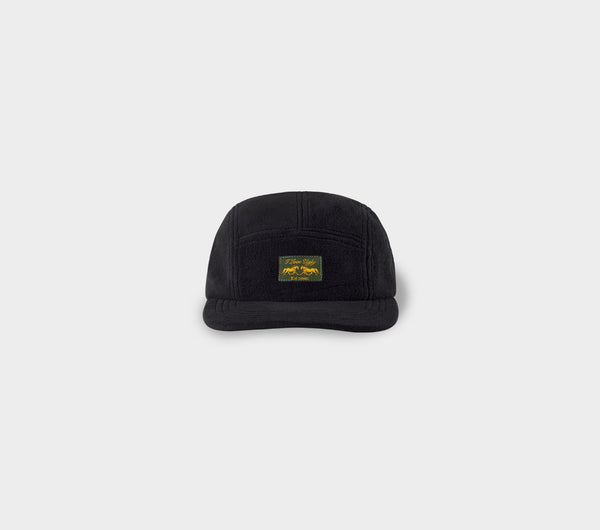 Fleece 5 Panel Cap - Black
