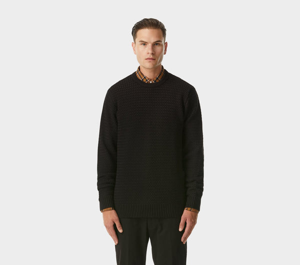 Textured Alza Sweater - Black