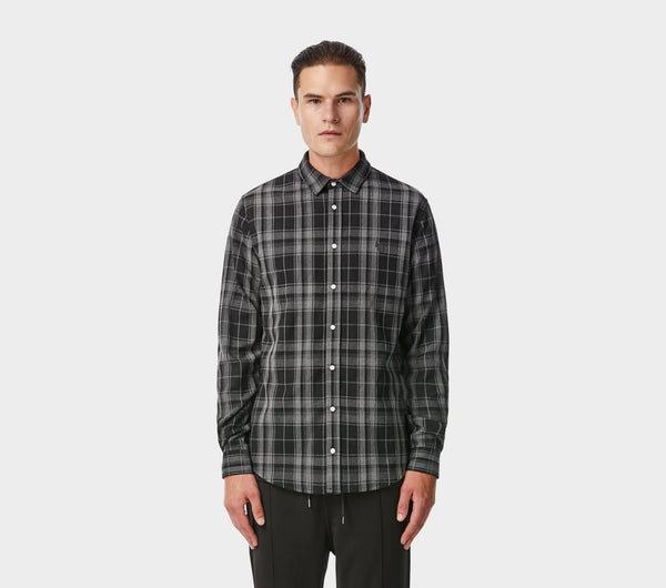 Midweight Miro Shirt - Black Check