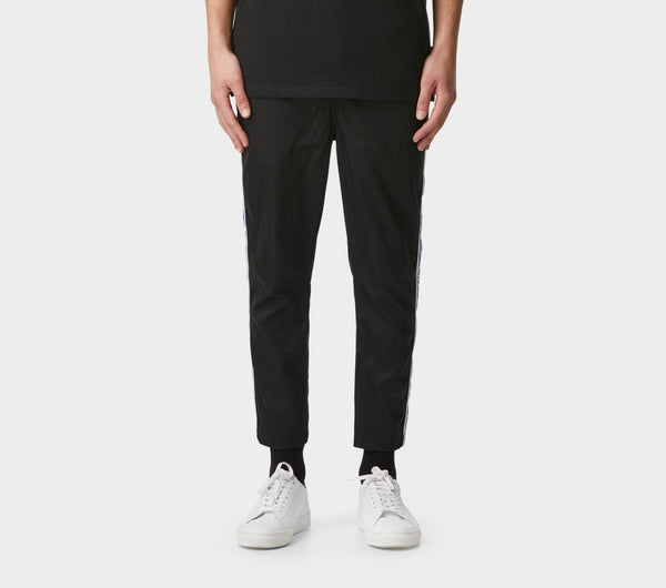 Anton Track Pant - Black Stripe Taped