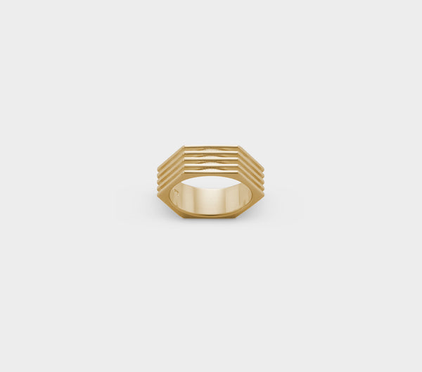 Hex Nut Ring - Gold