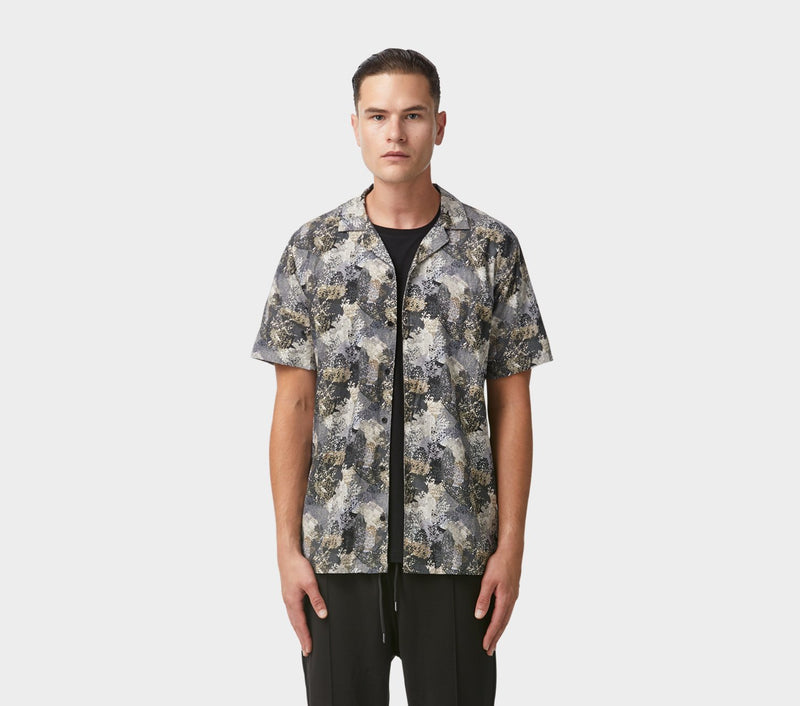 Cuban Collar SS Shirt - Smudge