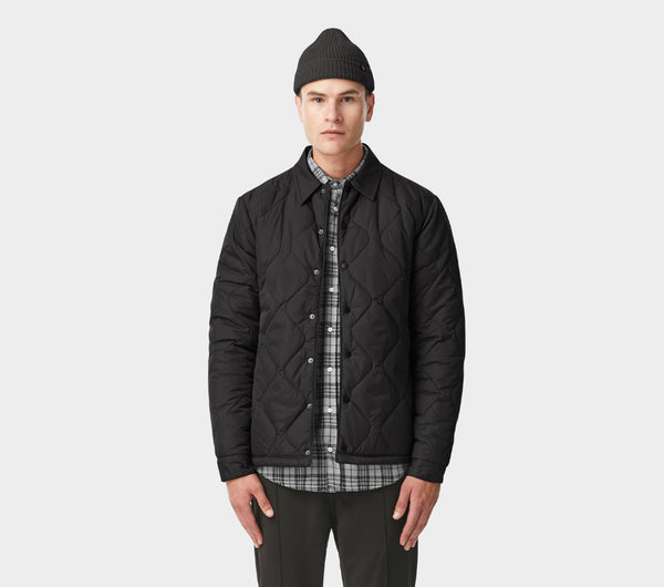 Quilted Coaches Jacket - Black