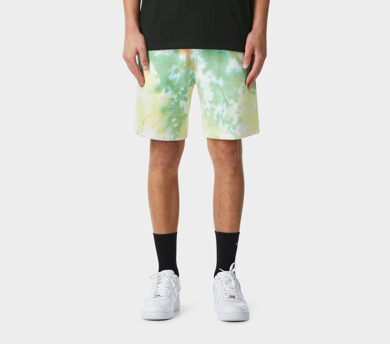 Tie Dye Trackie Short - Lemon and Lime