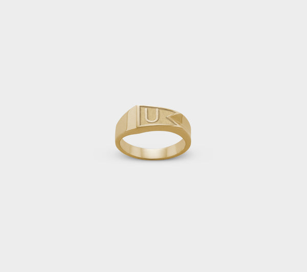 Flag Ring - Gold Plated