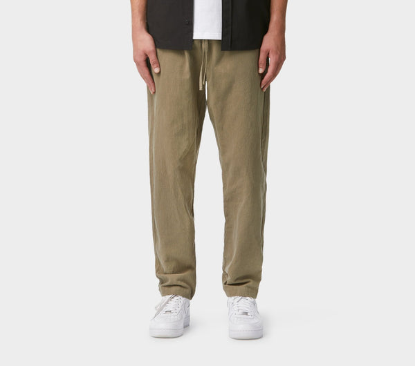 Linen Sebastian Pant - Dusty Green