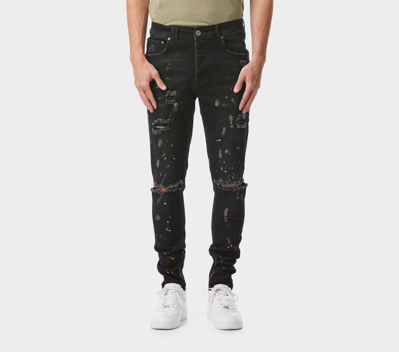 Smart Zespy Pant Denim - Blotched Black