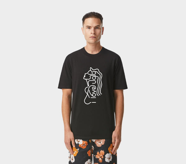 Portrait Relaxed Tee - Black