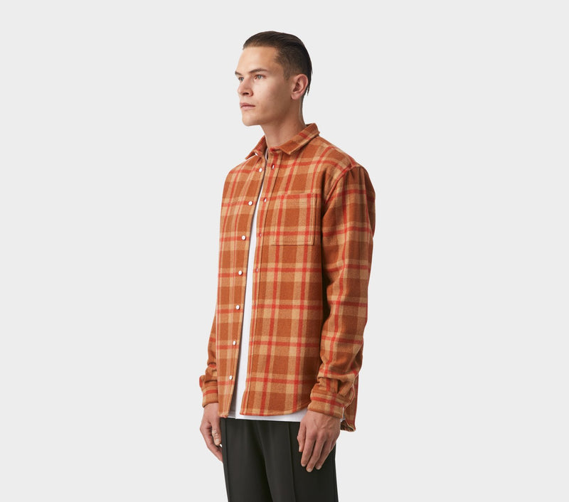 Essential Overshirt - Clay Check