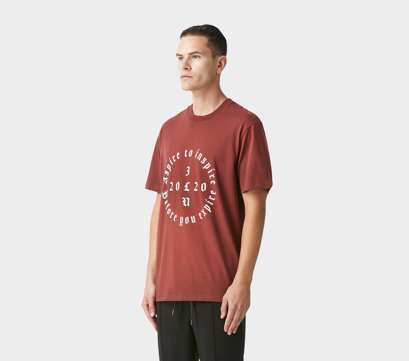 Aspire to Inspire Relaxed Tee - Brick