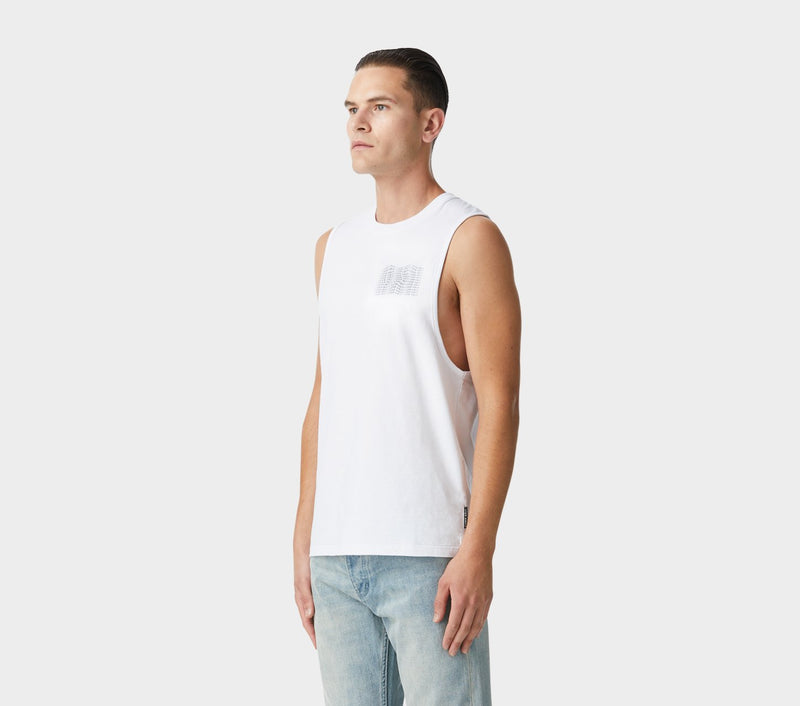 Sleeveless Tee - White