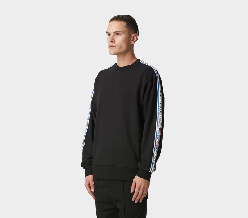 Wallace Crew - Black Stripe Taped