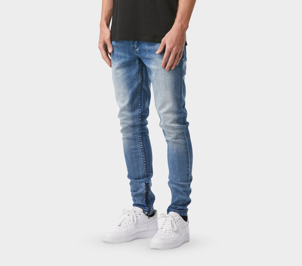 Smart Zespy Pant Denim - Scarred Blue