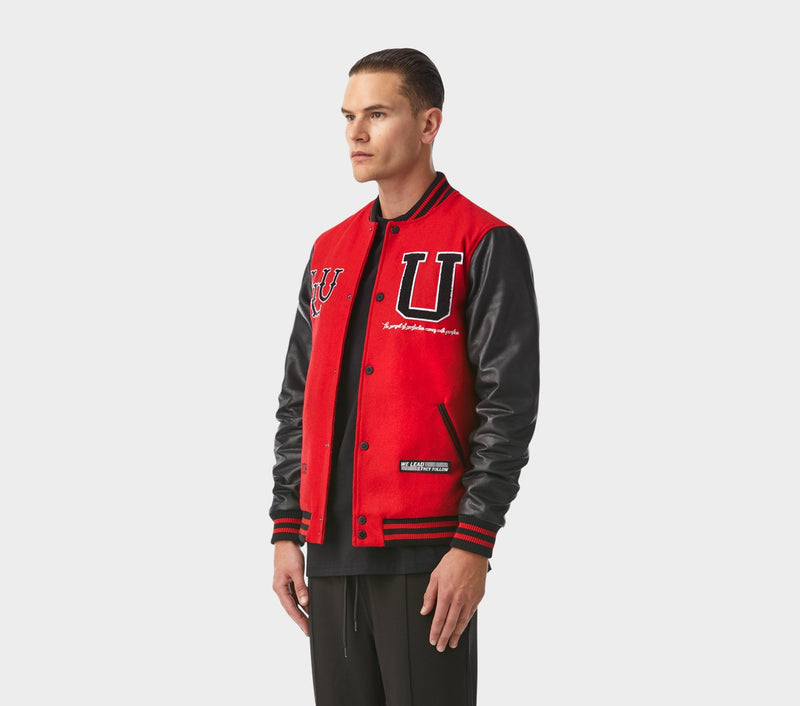 Letterman Jacket - Red