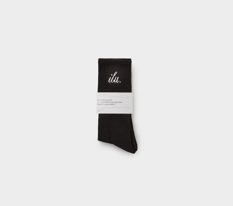 Shorthand Sock - Black