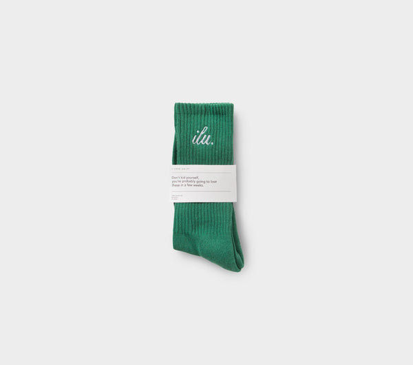 Shorthand Sock - Aspen Green