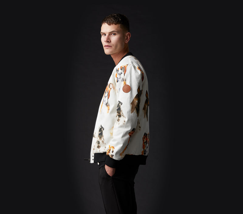 Hound Bomber Jacket - White