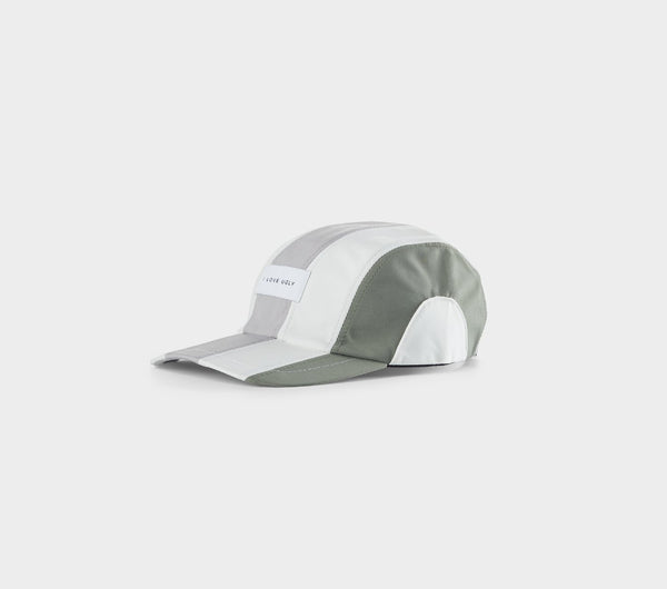Multi Panel Cap - Grey/Moss