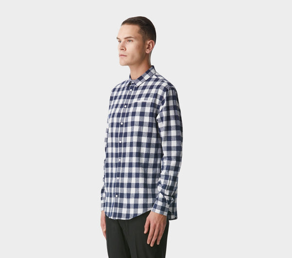 Essential Check Shirt - Navy/White