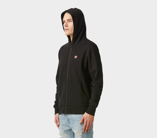 Full Zip Hood - Black