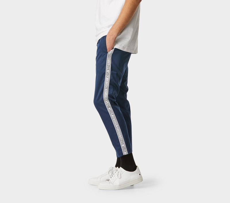 Anton Track Pant - Navy Taped
