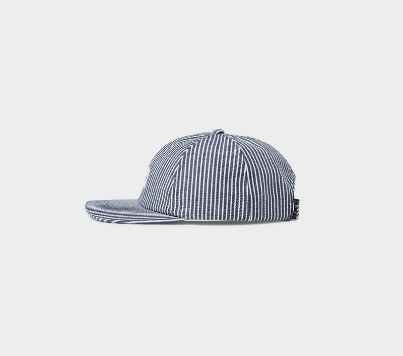Striped Dad Cap - Navy/White
