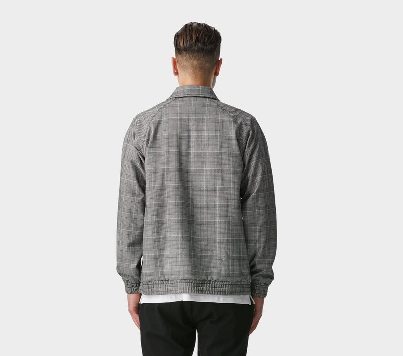 Anton Track Jacket - Black Check