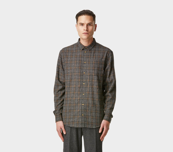 Essential Check Shirt - Scot's Black