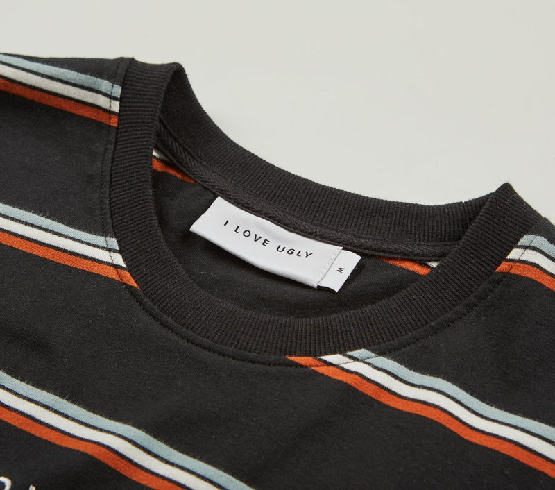 Stripe Logo Tee - Black/Burnt Orange