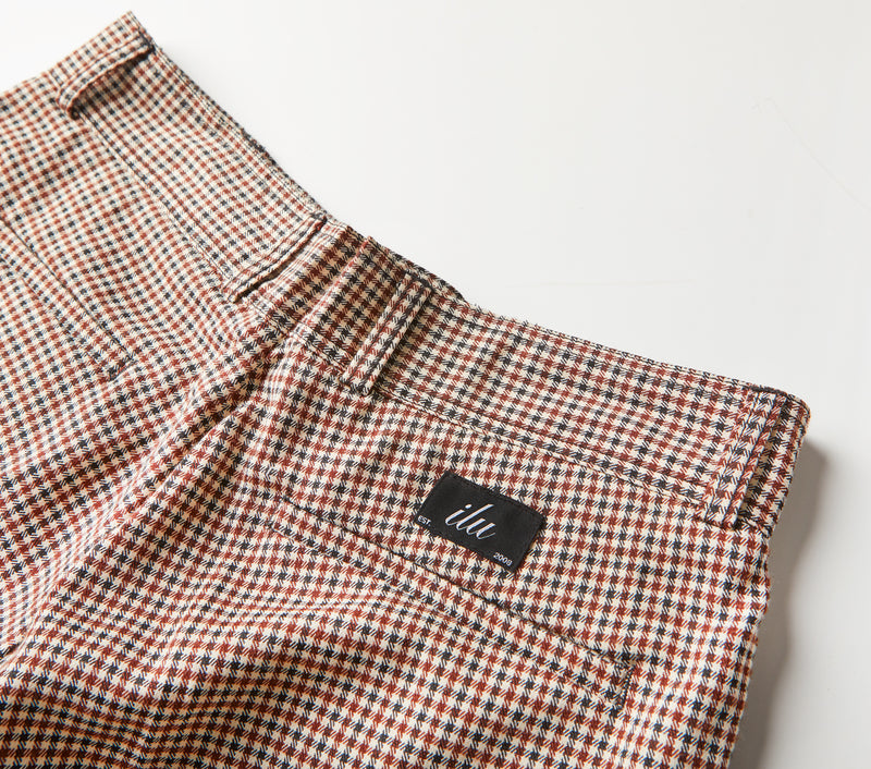 Slim Kobe Pant - Brown Houndstooth