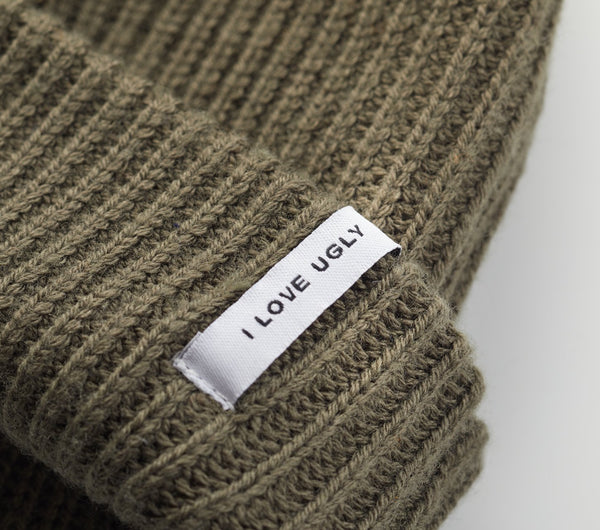 Rib Beanie - Dusty Green