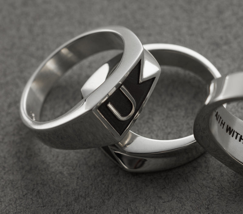 Flag Ring - Silver