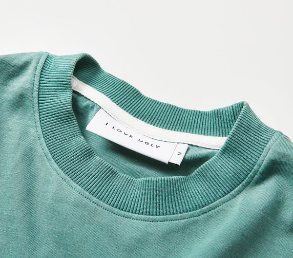 Box Fit Tee - Washed Green