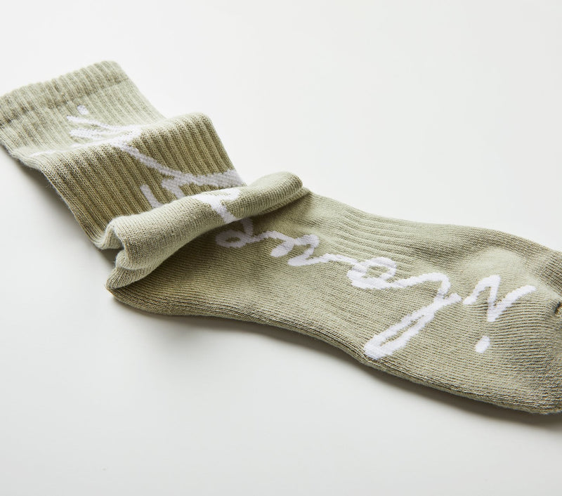 Script Sock - Spray Green